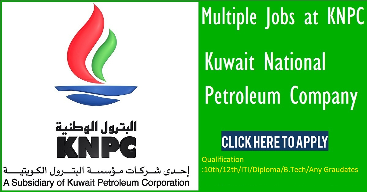 Kuwait national Petroleum company Announcement For Freshers