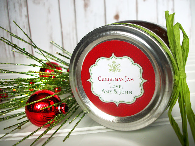 custom christmas canning label