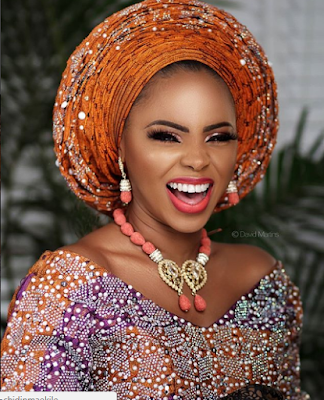 Nigeria singer, Chidima, looks so fierce in her royal bride outfit