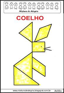 tangram desenho de coelho