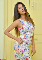 Nishi Gandha in Beautiful Sleeveless Deep neck Short Dress ~  Exclusive 001.jpg
