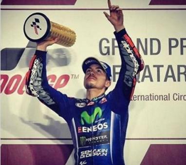 Maverick Vinales Juara 1 - Sirkuit Losail, MotoGp Qatar 2017