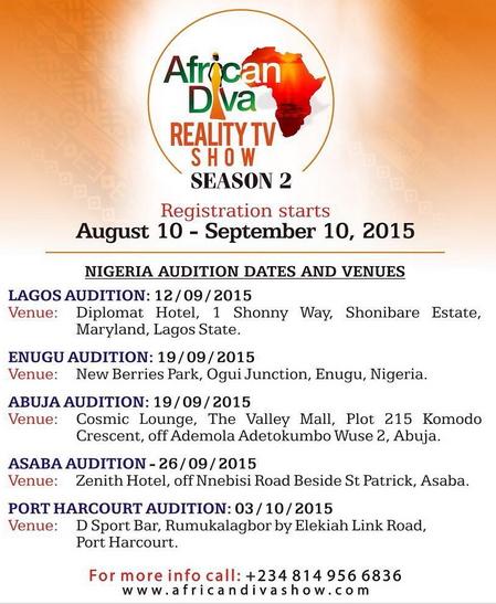 africa diva reality tv show season 2