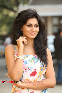 Actress Shamili Stills in Floral Short Dress at Sree Ramaraksha Song Launch 0012
