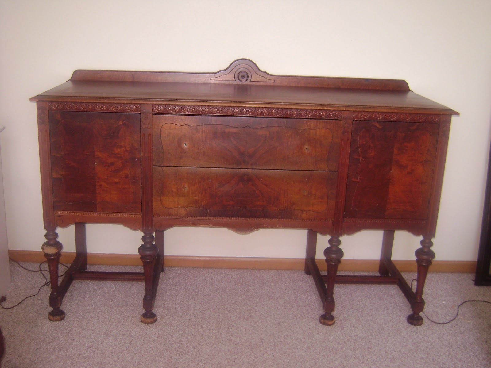 the family fun spot antique buffet makeover. Black Bedroom Furniture Sets. Home Design Ideas