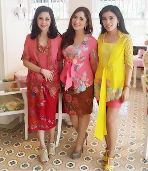8+ Model Kebaya Modern Lengan Pendek Sabrina Modis dan Manis 2018