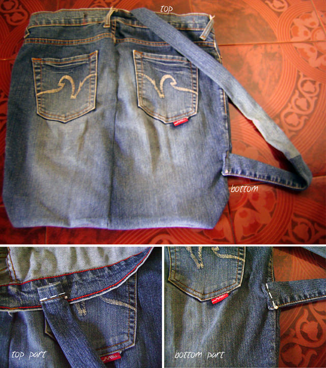 DIY Denim Backpack - Adding Strap Tutorial