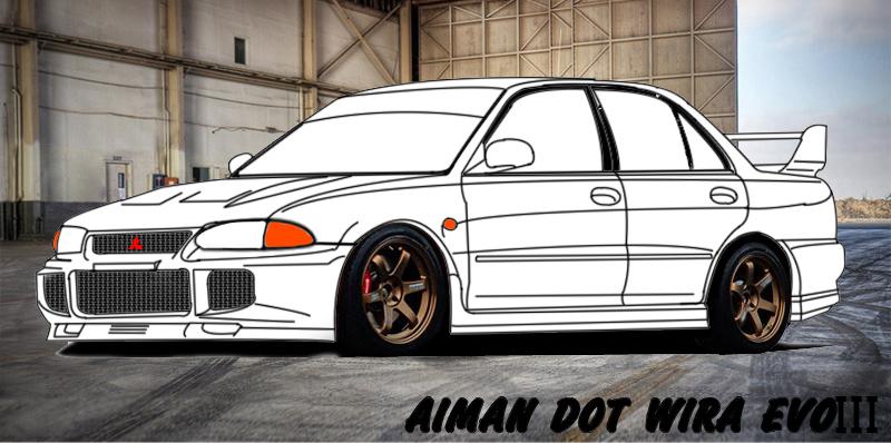 Gambar Kereta Versi Kartun Aiman Love Natrah Wira Evo Iii Ku Is Comming Soon 2013
