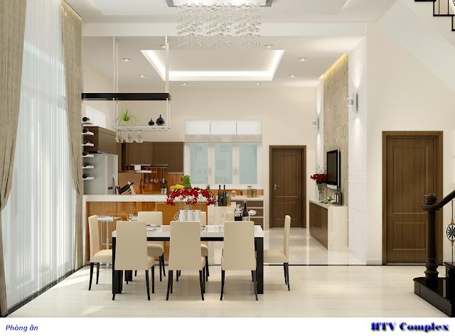 Phòng ăn chung cư Htv
