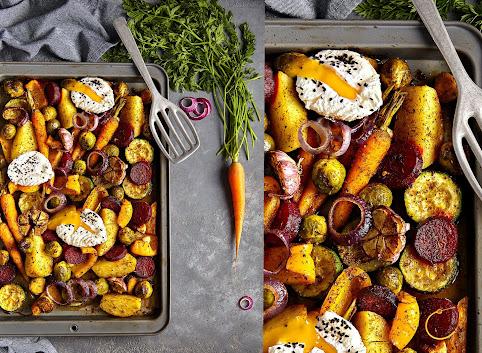 NATURalnie pieczone warzywa z jajkiem w koszulce