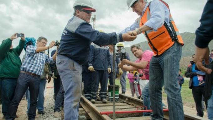 A toda marcha: instalaron rieles para el tren que recorrerá Jujuy-La Quiaca