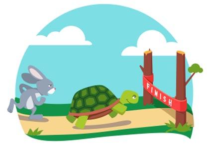 kali ini  akan membahas mengenai salah satu cerita fable Bahasa Inggris berjudu Dongeng Bahasa Inggris Singkat: The Hare and the Tortoise dan Artinya