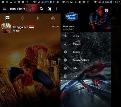BBM Mod Avengers dan SuperHero Clone Versi 3.0.0.18 Apk