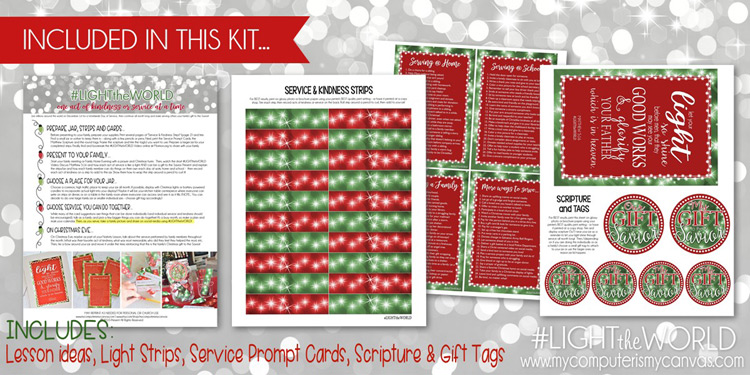 Free Printable Christmas Service Jar Kit