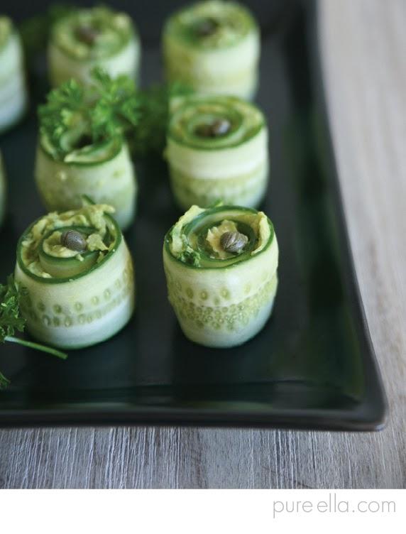 Vegan Creamy Cucumber Rollups
