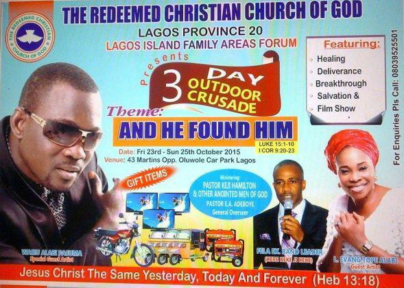 rccg pastor invites pasuma church