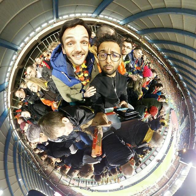 Ben Heine et Vinz Kanté au Stade Roi Baudouin avec Samsung Belgium