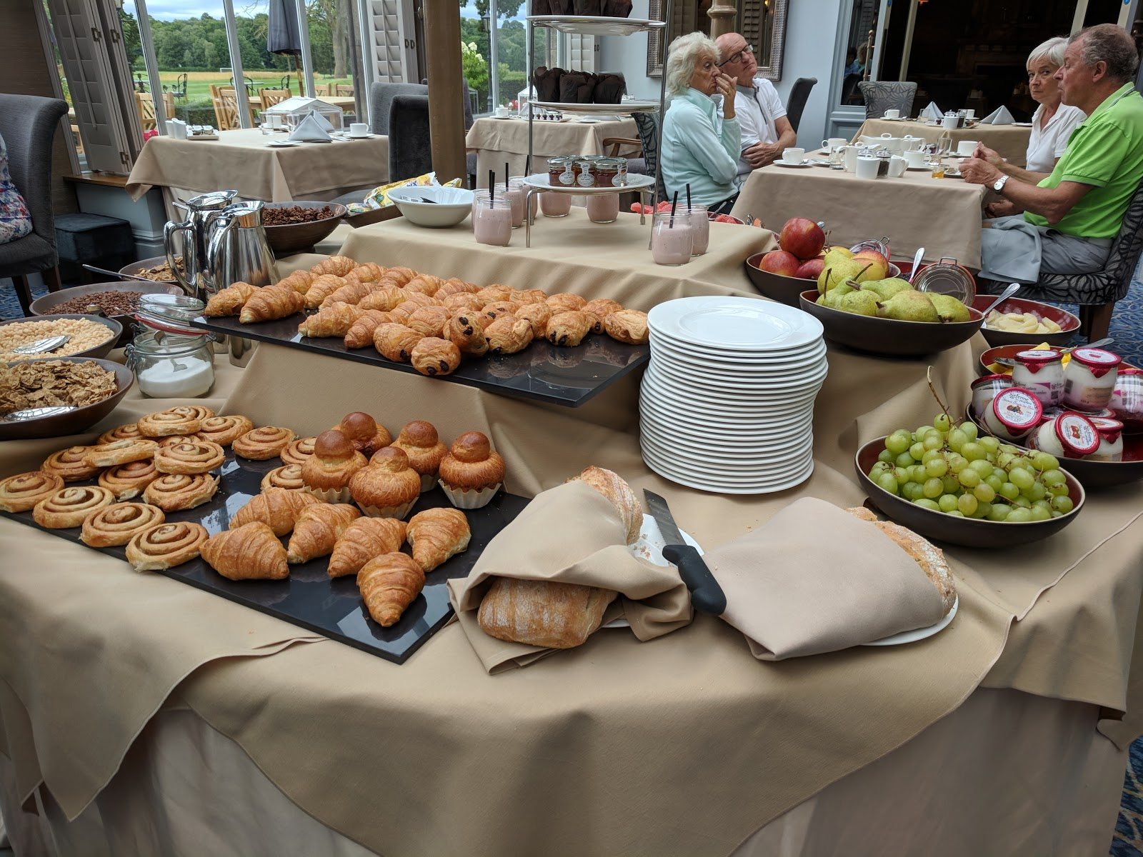A Luxury Family Staycation at Rockliffe Hall Hotel  - breakfast pastries