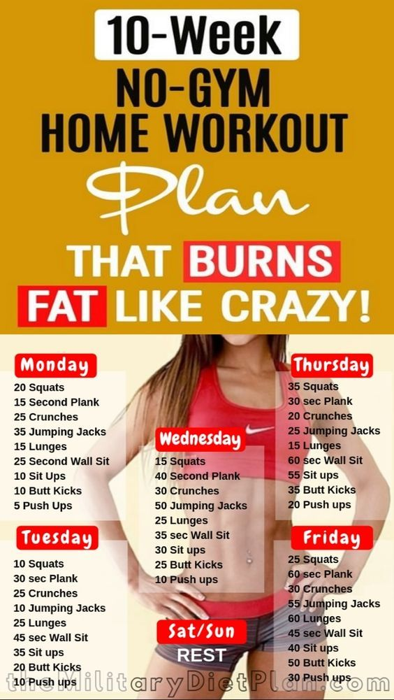 10-Week No-Gym Home Workout Plan That Burns Fat Like Crazy!
