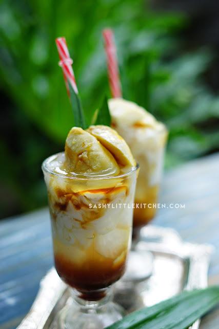 cara membuat es kelapa muda durian gula merah