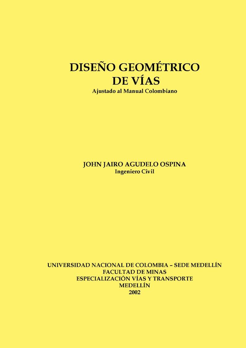 Diseño Geométrico de Vías