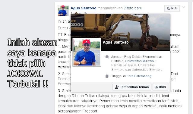Inilah Alasan Saya Kenapa Tidak Pilih Jokowi, Terbukti !!!