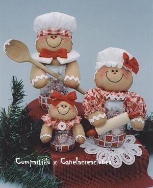 Gingersnaps II - Família Bonecos Gengibres de Feltro
