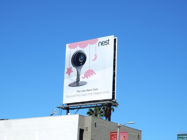 Nest Cam Baby mobile billboard