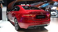 Debut at North America AWD 2017 Jaguar XE back view