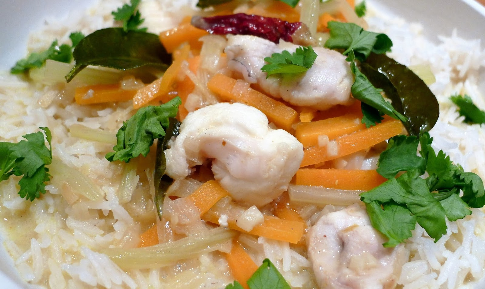 ... in London: Monkfish Cheek Coconut Curry Stew with Carrot and Fennel