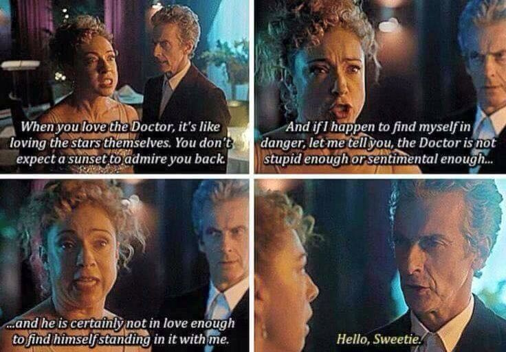 The Doctor and River Song - loving the stars themselves
