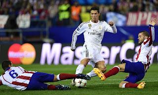 Real Madrid Atletico Cristiano Koke Mario Suarez