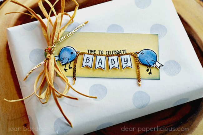 DEAR PAPERLICIOUS: Concord & 9th: Baby Gift Wrap and Tag