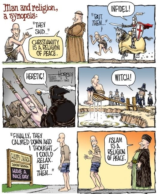 Man and religion. A synopsis. HUMOR casi INTELIGENTE