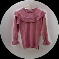 Rajut Renda Rempel Pink Depan - Toko Busana Pakaian Wanita Hita Nitya