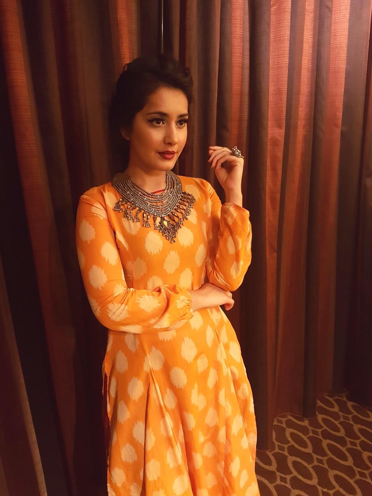 Rashi Khanna Photos In Yellow Gown At AtA
