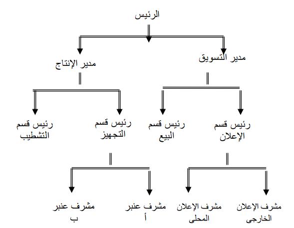 شكل هيكل تنظيمى