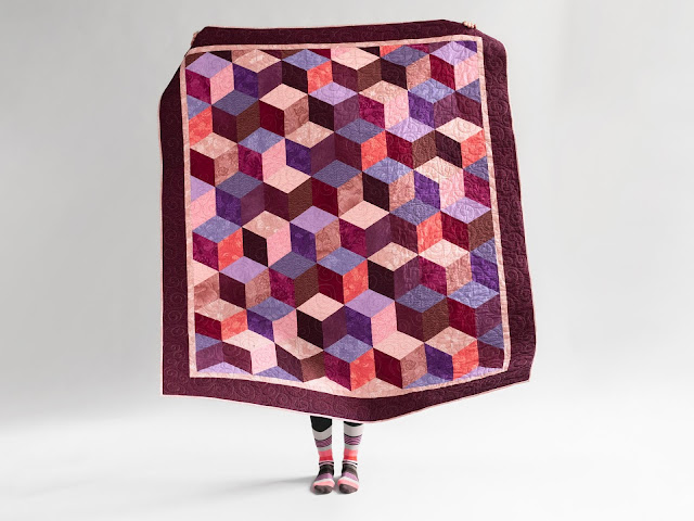 Tumbling Blocks quilt kit on Craftsy