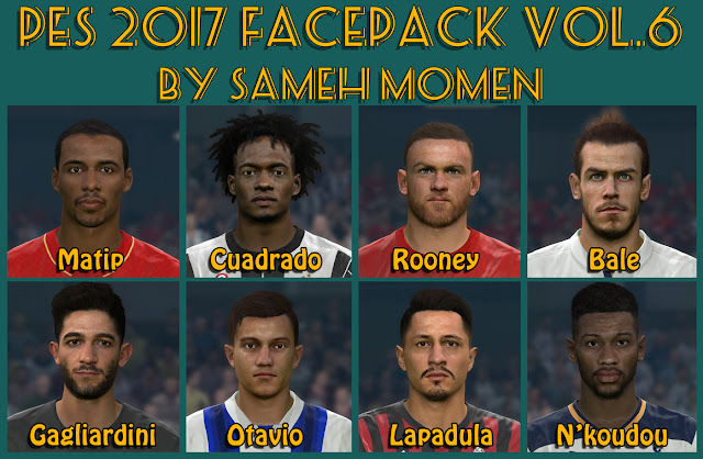 PES 2017 facepack vol.6 by Sameh Momen