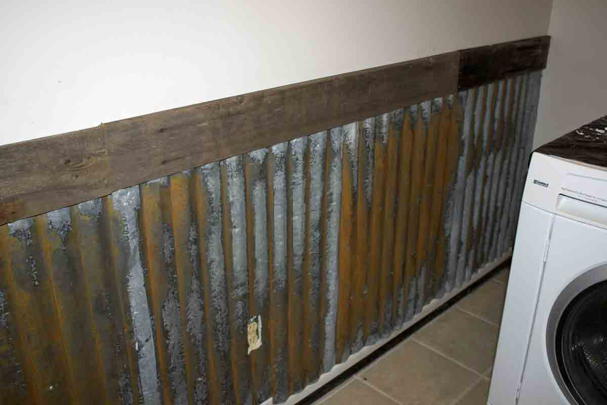 Corrugated Steel Chair Rail Office Chairs At Staples The B Farm Laundry Room Wall