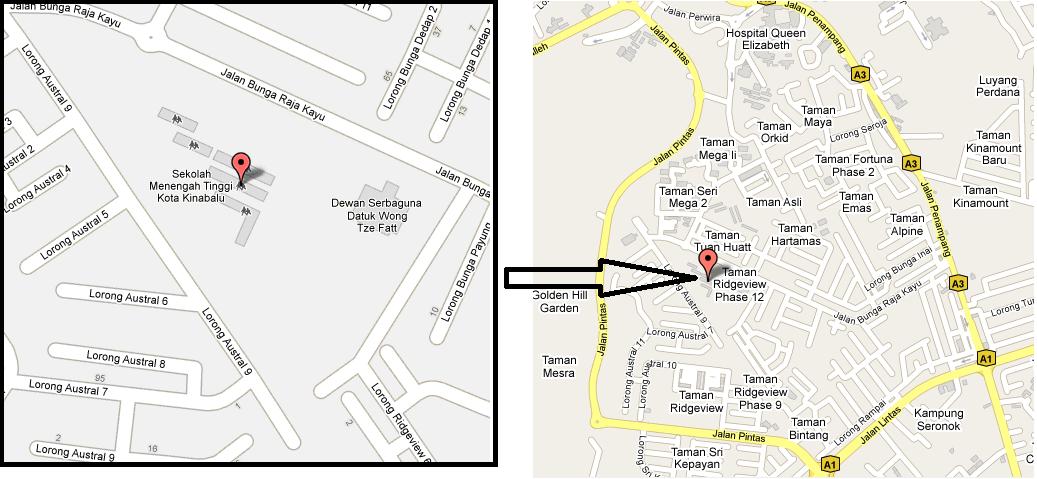 LINUS PPD RANAU Peta SM Tinggi Kota Kinabalu Sabah