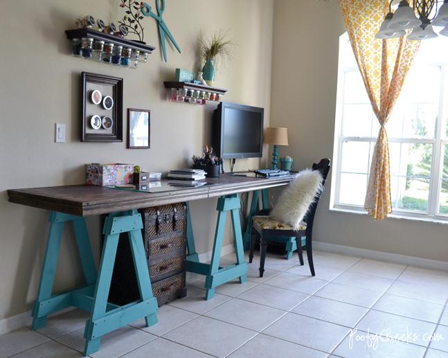 Craft Room Reveal By Poofy Cheeks Via Funky Junk Interiors