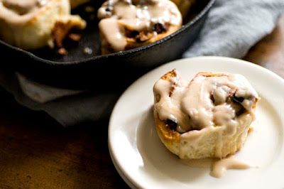 Bacon pecan cinnamon roll biscuits | Homesick Texan