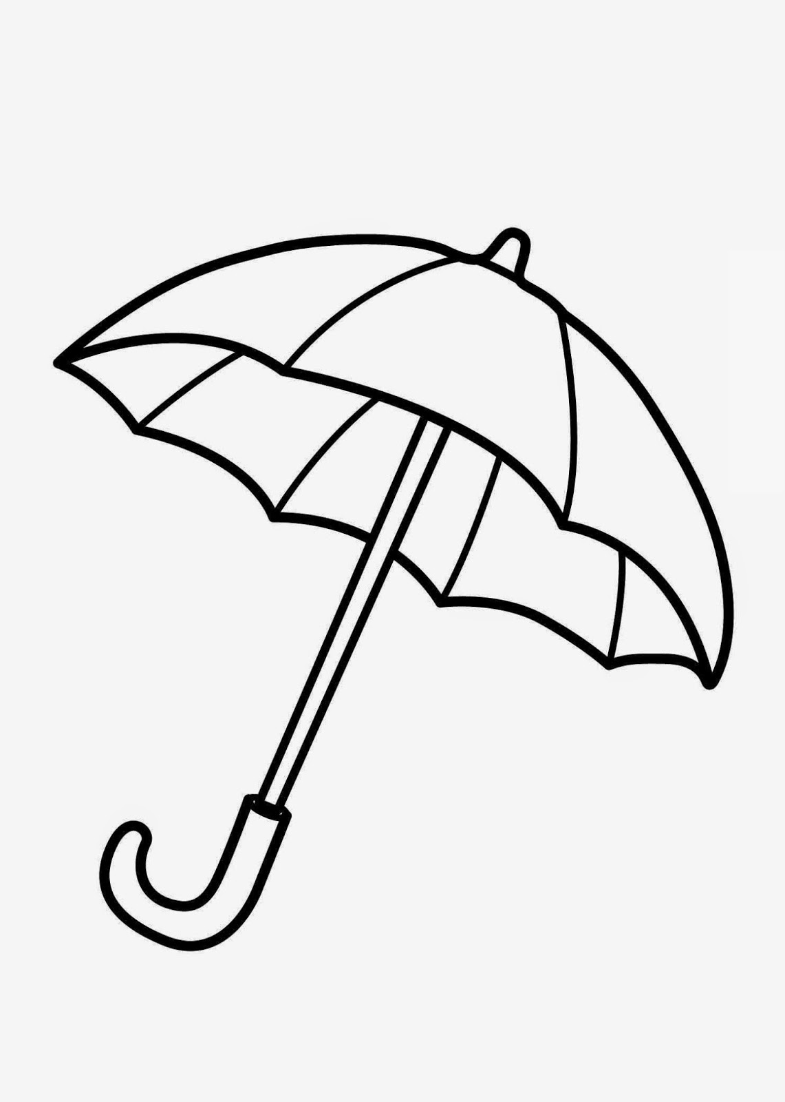 umbrella coloring pages | Free Printable Umbrella Coloring Pages
