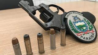 Polícia encontra arma em mochila de estudante em escola de João Pessoa