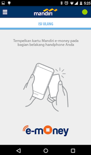 Cara top up via Aplikasi mandiri e-money isi ulang 2