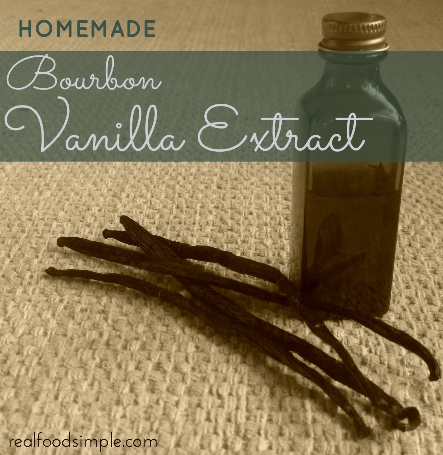 homemade bourbon vanilla extract | realfoodsimple.com