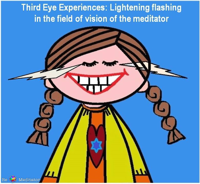 Third Eye Experiences: Lightening Flashing in the field of vision of the meditator