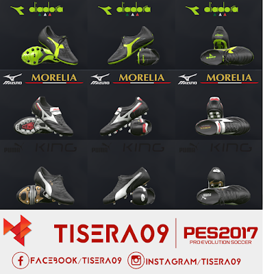 PES 2017 PES 2017 Classic Boots Pack Part 1 by Tisera09