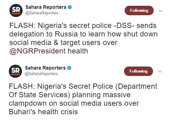 See what Sahara Reporters is claiming DSS is trying to do to social media users